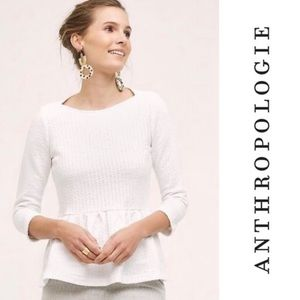 Anthropologie - Amadi - White Peplum Pullover